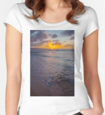 North Shore Sunset Women's Fitted Scoop T-Shirt