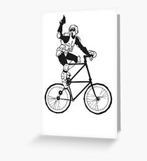 The Scout Trooper Tall Bike Design Greeting Card