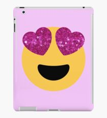 glitter heart eye emoji iPad Case/Skin