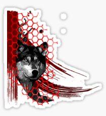 Wolf Trash Polka Sticker