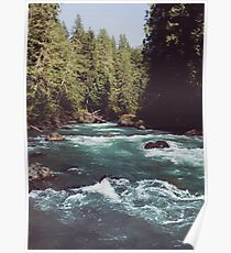Pacific Northwest River Wilderness - Cascade Mountains Poster