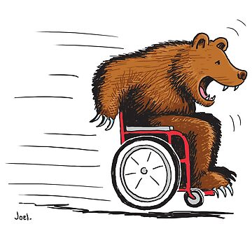 Bear in a wheelchair by joeltarling