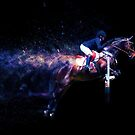 Showjumping Horse Colour Explosion by Michelle Wrighton