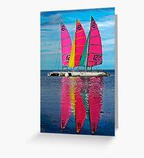 Three Sails Greeting Card