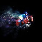 Cross Country Horse - Colour Explosion by Michelle Wrighton