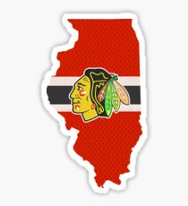 Blackhawks Illinois Flag Jersey Sticker