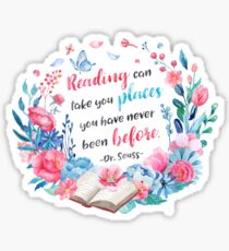 Reading can take us places Sticker