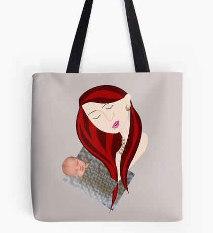 Mother with child (3122 Views ) Tote Bag