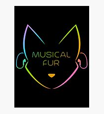 Musical Fur Photographic Print