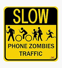 Phone Zombies Traffic Photographic Print