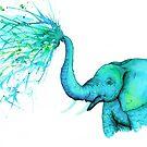 Blue Elephant and Spray by alwclarke