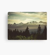 Pacific Northwest Sunrise - Northern Cascade Mountain Forest Canvas Print