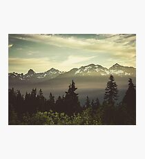 Pacific Northwest Sunrise - Northern Cascade Mountain Forest Photographic Print