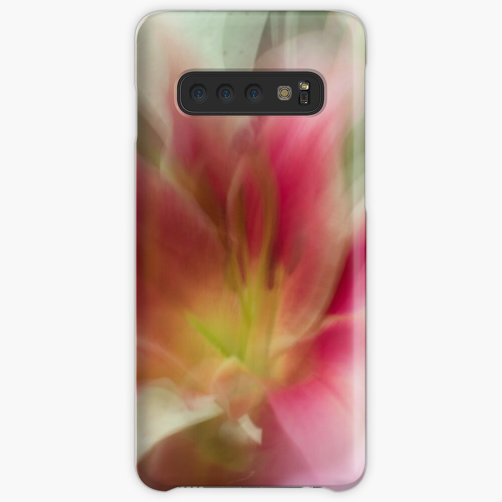 Fleur Blur-Abstract Pink, Yellow, White Lily Case & Skin for Samsung Galaxy