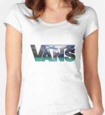 VANS (MOUNTAINS) Women's Fitted Scoop T-Shirt