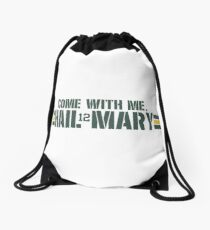 """Hail Mary"" A A R O N Drawstring Bag"