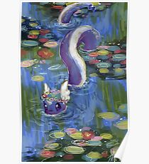 Monet Dragonair Lilies Poster