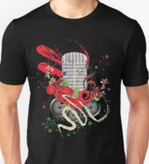 Grunge Speaker and Microphone 2 T-Shirt
