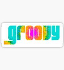 GROOVY HIPPIE 1970s STICKER Sticker
