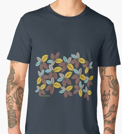 fabric leaf pattern (163 Views) Men's Premium T-Shirt