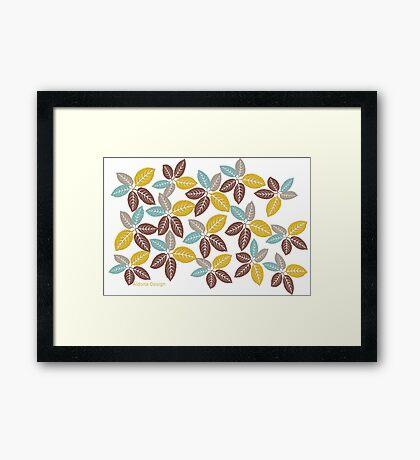 fabric leaf pattern (149 Views) Framed Print
