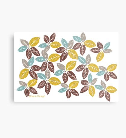 fabric leaf pattern (163 Views) Metal Print