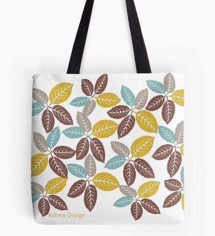 fabric leaf pattern (163 Views) Tote Bag