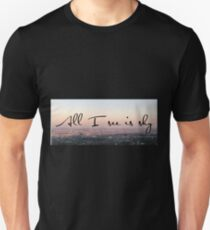 """All I see is sky"" Lyric Art T-Shirt"