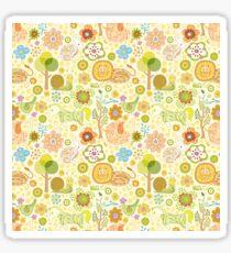 Animals Kingdom Cute Colorful Illustration Sticker