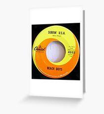 Beach Boys, Surfin' USA, Orange Swirl label 45 Greeting Card