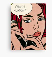 Pop art girl on the phone, Roy Lichtenstein Canvas Print