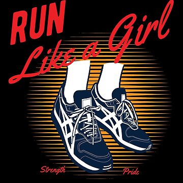 Running Funny Design Womens - Run Like A Girl by kudostees
