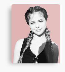 Selena Braids Metal Print