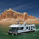 Houseboat on Lake Powell by Yair Karelic