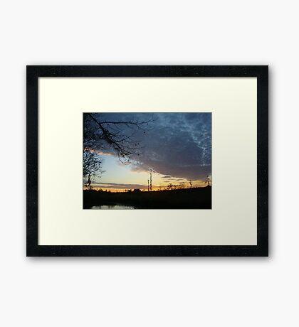 Sunset Extravaganza Framed Print