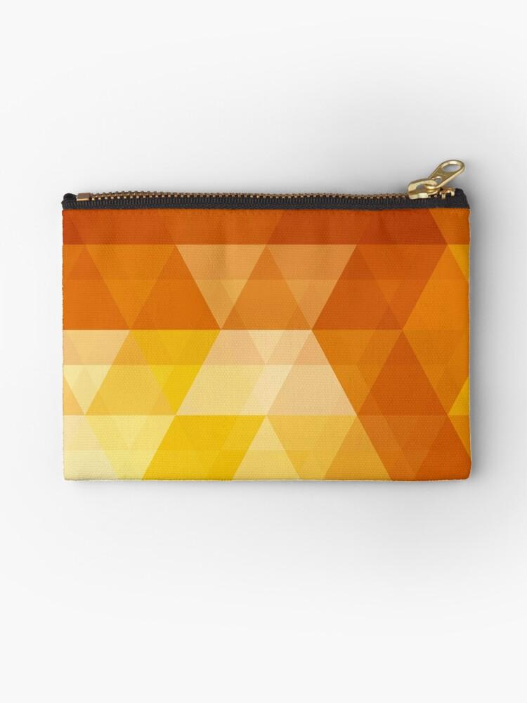 Geometric Orange Brown Pattern by MyArt23