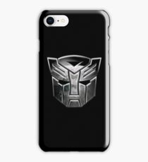 a cool silver robots iPhone Case/Skin