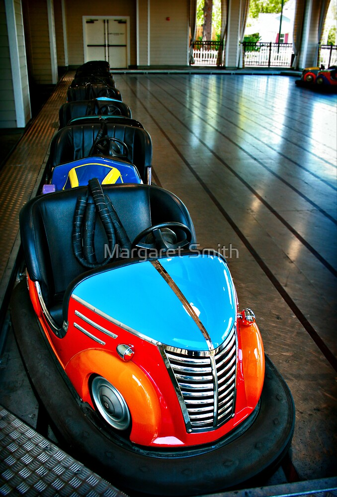 bumper cars by Margaret Smith