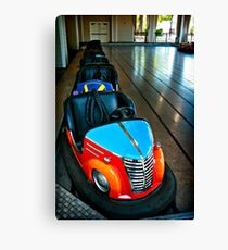 bumper cars Canvas Print
