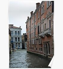 Buildings near canal in Venice, Italy  Poster
