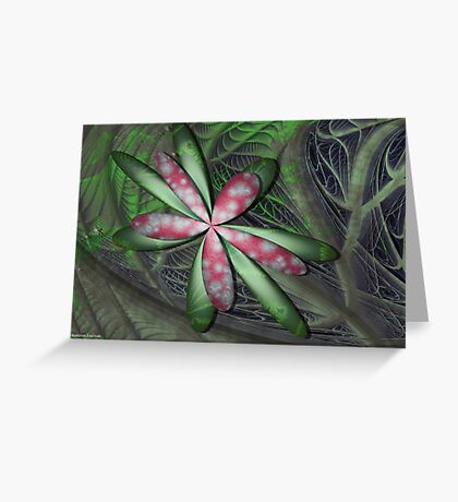 Jungle Flower Greeting Card