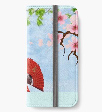 Geisha& Japanese fan(15521  views) iPhone Wallet