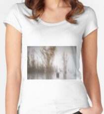 Cane at Lake Hula, Israel Women's Fitted Scoop T-Shirt
