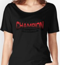 Pokemon Champion_Red Women's Relaxed Fit T-Shirt