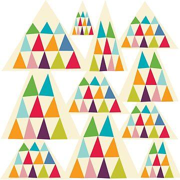 Colorful Geometric Triangle by MyArt23