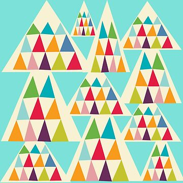 Geometeric Multicolor Triangle Pattern by MyArt23