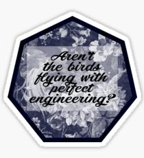 Aren't The Birds Flying With Perfect Engineering? Sticker