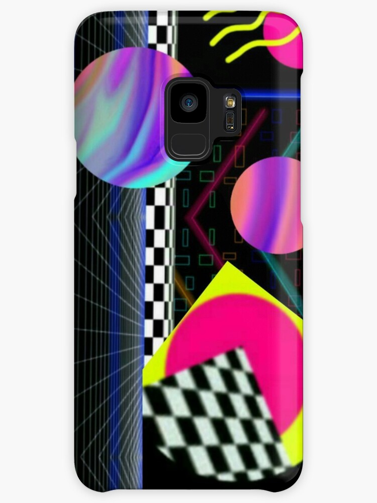 Venus Eclipse Vaporwave Geometric Abstract 80's Planetary Dreamscape by neonmoonwaves