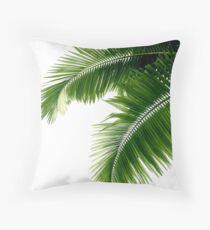 Tropische Palmblätter Dekokissen