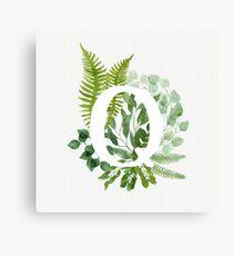 Floral letter Q Canvas Print